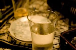 日本酒の冷やのグラス