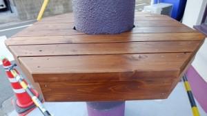 テラススペース 六角形のテーブル