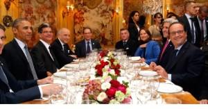 晩餐会 チーズセット 各国首脳の様子