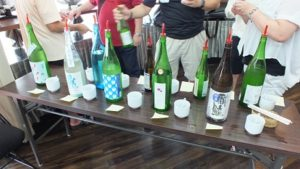 夏酒を楽しむ会 酒ラインナップ